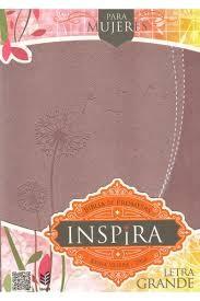 Biblia de Promesas Inspira RVR1960 - Edición para mujeres; L.G. Piel oro rosado