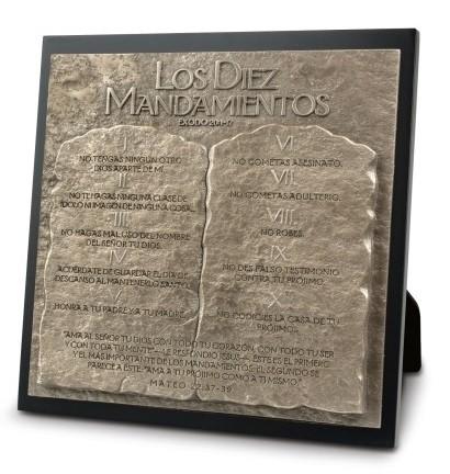 Los Diez Mandamientos - Placa decorativa