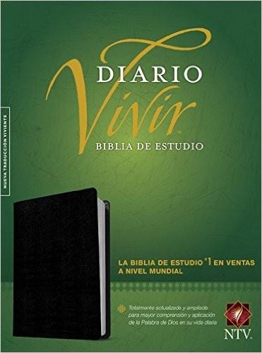Biblia de estudio Diario Vivir-NTV (Piel negro)