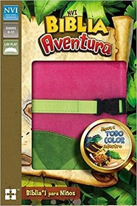 Biblia Aventura rosa verde