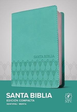 Biblia NTV Edición compacta, SentiPiel, verde menta