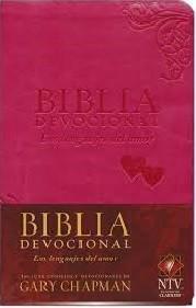 Biblia devocional Los lenguajes del amor - NTV Piel, dos tonos rosado