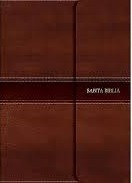 Biblia RVR60 Holman - Letra Grande, tamaño manual, simil piel narrón y solapa con imán