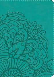 Biblia RVR60 Holman, compacta, letra grande, referencias; Piel, aqua