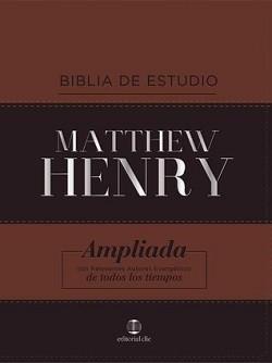 Biblia de estudio Matthew Henry RVR1977; Ampliada - Piel dos tonos; Indice