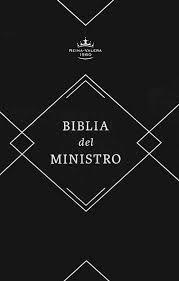 Biblia del ministro RVR1960 Holman; Piel, negro