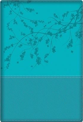 Biblia de la mujer conforme al corazón de Dios - RVR60 Piel dos tonos Aqua