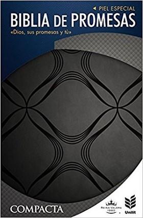 Biblia de Promesas compacta RVR 1960; Piel especial negra