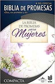 Biblia de promesas para mujeres - RVR60, Compacta, Letra grande, Piel especial, Indice