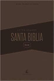 Biblia Reina Valera Revisada 1977 Grupo Nelson - Letra grande, Imitación piel marrón