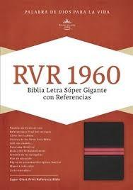 Biblia RVR 1960 Holman Letra Super gigante; Piel fabricada, negro/rojo