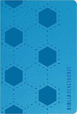 Biblia Vencedores RVR1960, Holman, Compacta, Letra grande, Simil piel, azul