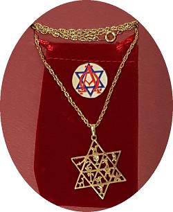 Collar estrella David c/simbolos