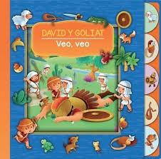 David y Goliat, veo, veo, (Bilingue) Cartón troquelado