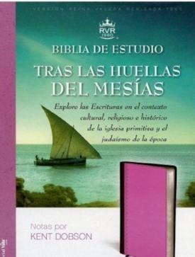 Biblia de estudio Tras las huellas del Mesías - Pidel dos tonos rosa/marrón